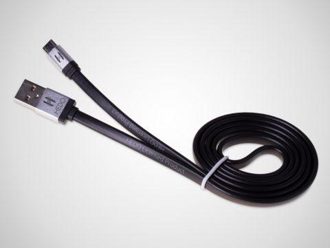 Hedo kabel micro USB czarny